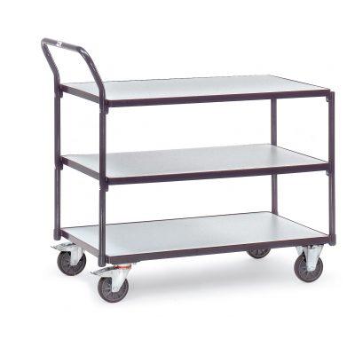 3-tray ESD Trolley - 850 x 500 shelf size
