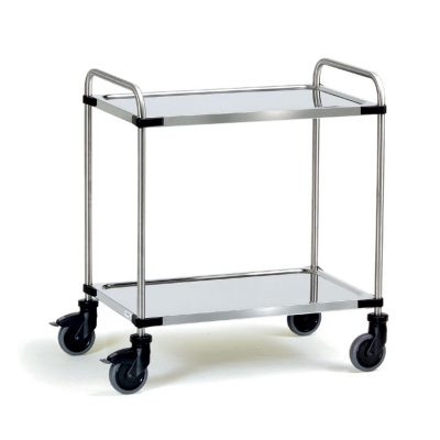 Two Tier Stainless Steel Shelf Trolley
