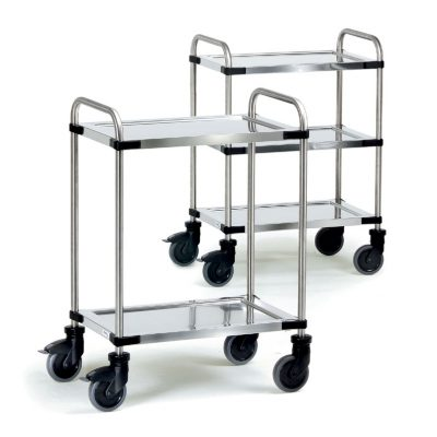Stainless Steel Trolley 2 Shelf 630 x 400