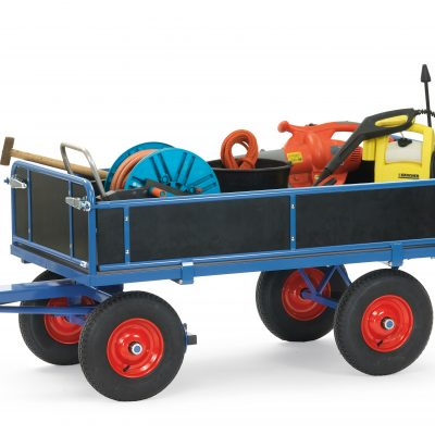 4-sided Hand Truck 1200 x 800, Pneumatic Tyres
