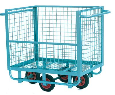 Wire Mesh Box Truck 150kg Half Open Sided**