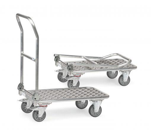Aluminium folding trolley - 720L x 450W mm