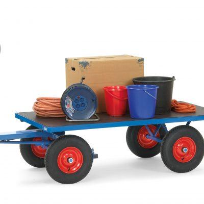 Platform Hand Truck 1200 x 800, Pneumatic Tyres