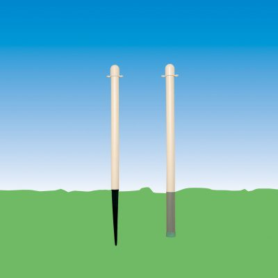 Plastic Post With Ground Spike in 4's