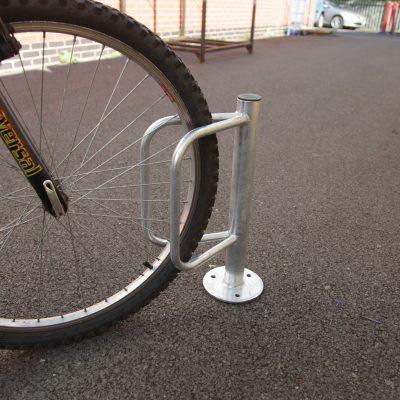 Ground Fixed Single Cycle Holder - Flange Fix
